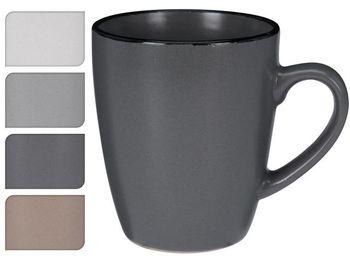 Чашка 340ml H12.5cm Black Rim, керамика