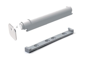 Push impulse alb sau gri 20 mm cu plăcuță + bază INDAUX