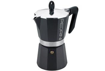 Кофеварка на 6 чашки Pedrini, алюминевая антрацит