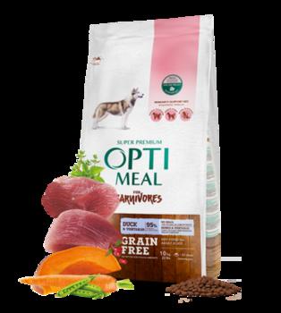 купить Optimeal для собак беззерновой корм для взрослых собак всех пород - УТКА и овощи 10Kg в Кишинёве
