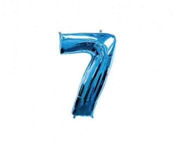 Цифра 7 Синий 40 / 102 см