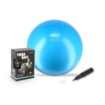 Мяч гимнастический с насосом d=75 см HMS 17-42-111 light blue (4825)