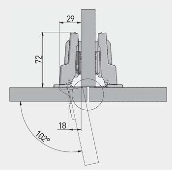 Balama semiaplicată cu amortizor 3D GTV