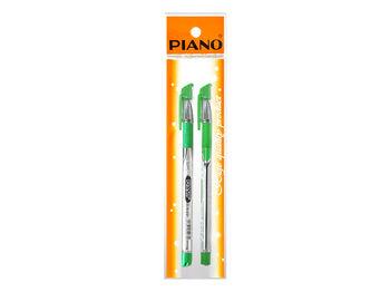 Набор ручек шариковых PT-195 soft ink,0.7mm 2шт зеленых