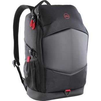 "15.6"" NB Backpack - Dell Pursuit 15 -17, Black, Hardy EVA molded front shield and a foam padded interior, V-shaped air channel design and breathable air mesh back padding, Robust, water-resistant materials keep safe from adverse weather conditions"