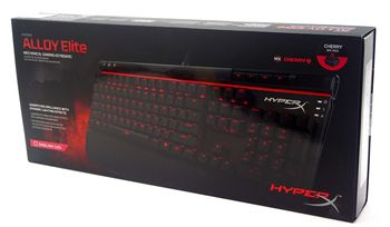 Kingston HyperX Alloy Elite Mechanical Gaming Keyboard (RU), Mechanical keys (Cherry® MX Blue key switch) Backlight (Red), 100% anti-ghosting, Key rollover: 6-key / N-key modes, Ultra-portable design, Solid-steel frame, Detachable wrist rest, USB
