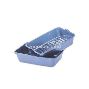 купить Туалет (лоток) с сеткой, глубокий, разные цвета в Кишинёве