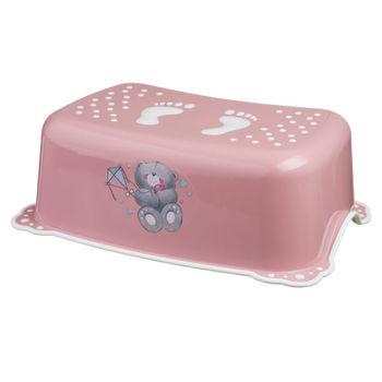 "Подставка ""Bears"" c нескользящими резинками, розово/белая, код 42511"