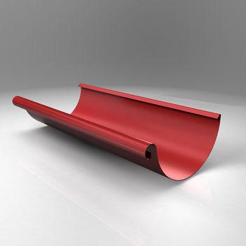 купить Желоб Scandic  L=2000 mm (125 mm)  Цвет - Бордовый в Кишинёве