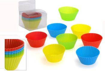 Формы для выпечки кексов 8шт, силикон, в коробке