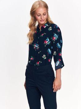 Блуза TOP SECRET Темно синий с принтом SKL2670GR