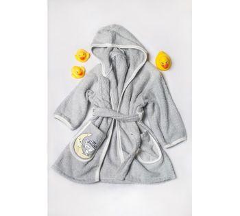 Халат для купания (от 0 до 1,5 лет) Dormi Baby серый