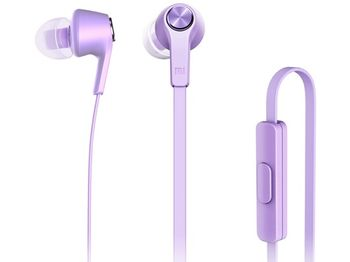 "Xiaomi ""Piston Basic Edition"" In-ear Earphones, Matte Purple, 3.5mm, Microphone, Rated Power 5mW, Speaker Impedance 32ohms, Frequency response: 20~20KHz, Hands free calling features, Cord type cable 1.2 m"