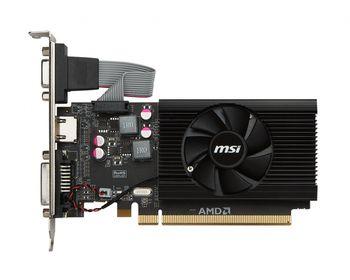 MSI Radeon R7 240 (R7 240 2GD3 64b LP) /  2GB DDR3 64Bit 600/1600Mhz, D-Sub, DVI, HDMI, Single fan, Low Profile Bracket x 2 (HDMI+DVI x 1, D-Sub x 1), Retail