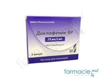 купить Diclofenac-BP sol. inj. 75 mg/3 ml 3 ml N5 в Кишинёве