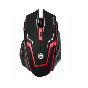 """MARVO """"M319"""", Gaming Mouse, 800/1200/1600/2400dpi adjustable, Optical sensor, 6 buttons, Braided cable, USB, Red"""