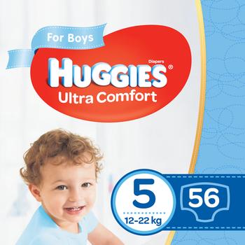 купить Подгузники для мальчиков Huggies Ultra Comfort 5 (12-22 kg), 56 шт. в Кишинёве
