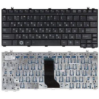 Keyboard Toshiba Satellite T130 T135 U400 U405 U500 U505 E205 Portege  A600 M800 M900 ENG/RU Black