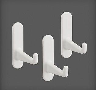 cumpără Set 3 cârlige lungi din plastic 15x68x62 mm, alb în Chișinău