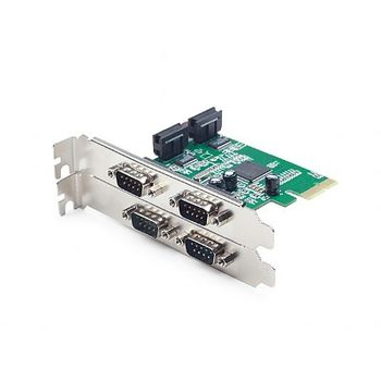 Gembird SPC-2 PCI-Express add-on card, RS-232 x 4, Low-profile brackets