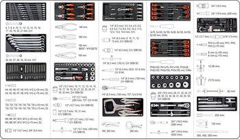 купить Ящик с инструментом Yato 165 ед. (yt-55293) в Кишинёве