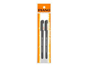 Набор ручек шариковых PS-001 soft ink,1mm, 2шт, черных