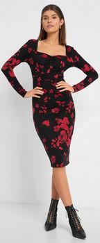 Платье ORSAY Чёрно/красный