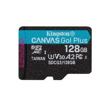128GB microSD Class10 UHS-I U3 (V30) Kingston Canvas Cangas Go Plus, Ultimate, Read: 170Mb/s, Write: 90Mb/s, Ideal for Android mobile devices, action cams, drones and 4K video production