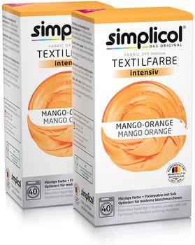 SIMPLICOL Intensiv - Mango-Orange, Краска для окрашивания одежды в стиральной машине, Mango-Orange