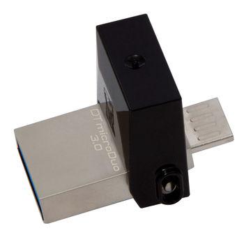128GB USB3.1  Kingston DataTraveler microDuo 3.0 G2, Ultra-small, USB OTG Type C (On-The-Go), (Read 100 MByte/s, Write 15 MByte/s)