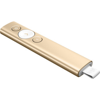 Presenter Logitech Spotlight, Bluetooth and 2.4GHz, Wireless range 30m,  3D accelerometer and Gyroscope, Gold