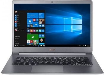 "ACER Swift 5 Steel Gray (NX.H7KEU.011), 14.0"" IPS FHD Multi-Touch+Win10HE (Intel® Core™ i7-8565U 4xCore up to 4.60GHz, 8GB (1x8) DDR4 RAM, 256GB PCIe SSD, Intel® UHD Graphics 620, CR, WiFi-AC/BT, FPR, Backlit KB, 2cell, HD Webcam, RUS, 0.97kg,14.9mm)"