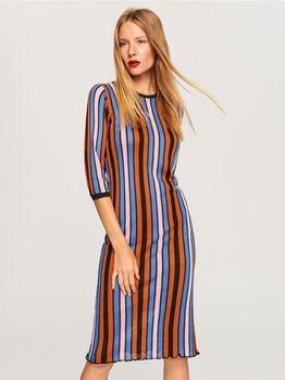 Платье RESERVED Цветная полоска ui826-mlc