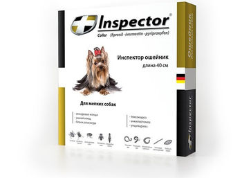 купить Ииспектор ошейник для мелких собак длина 40см 1уп*5шт в Кишинёве