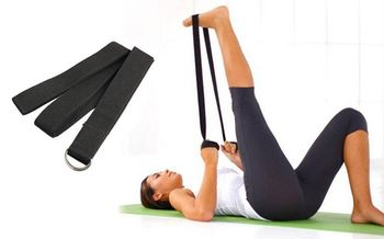 Ремень для йоги 183x3.8 см, хлопок FI-4943 (566)