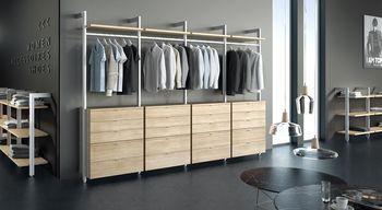 cumpără CLOS-IT bară pentru haine 794x35x20 mm, argintiu în Chișinău