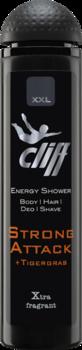 CLIFF - XXL STRONG ATTACK Шампунь-гель для душа Сила Атаки с экстрактом тигровой травы 300 мл