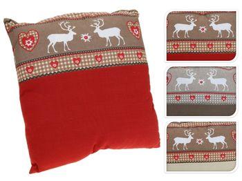купить Подушка рождеств красн с оленями, 40Х40сm в Кишинёве