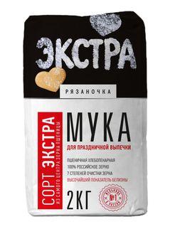 Пшеничная мука Рязаночка 2кг (качество Экстра)
