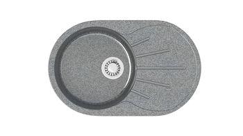cumpără Chiuvete lucioase din piatră (gri inchis) Z110Q8 în Chișinău