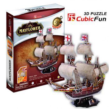 """CubicFun 3D пазл """"MayFlower""""   (111 деталей)"""
