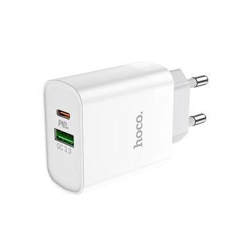 HOCO C80A Rapido PD20W+QC3.0 charger (EU) white
