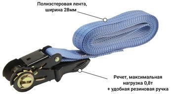 купить Стяжной ремень кольцевой с храповым механизмом 0,8 тонн - 4 м в Кишинёве