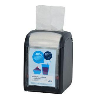Диспенсер для салфеток N14, 170*113*141, Черный Пластик