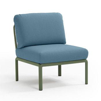 Кресло модуль центральный с подушками Nardi KOMODO ELEMENTO CENTRALE AGAVE-adriatic Sunbrella 40373.16.142