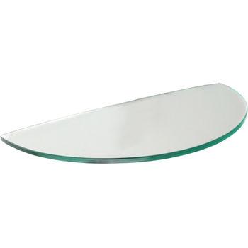 cumpără Poliţă Melon Glassart 400x230x8 mm, sticlă transparentă în Chișinău