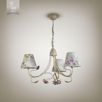 купить N&B Light Люстра Брюссель 9503-1 кремовый/ зеленый/ розовый в Кишинёве