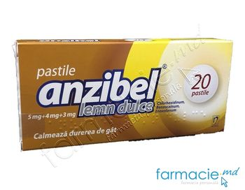 купить Anzibel® lemn dulce pastile 5 mg/4 mg/3 mg N10x2 в Кишинёве