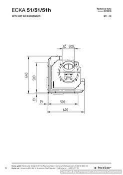 Каминная топка - HOXTER ECKA 51/51/51h L/R