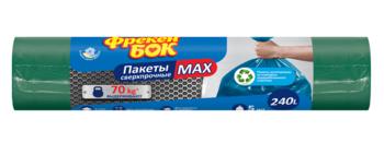 купить Пакеты для мусора сверхпрочные Фрекен Бок Max, 240 л, 5 шт. черный в Кишинёве